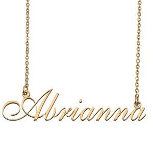 Custom Personalized Abrianna Name Necklace